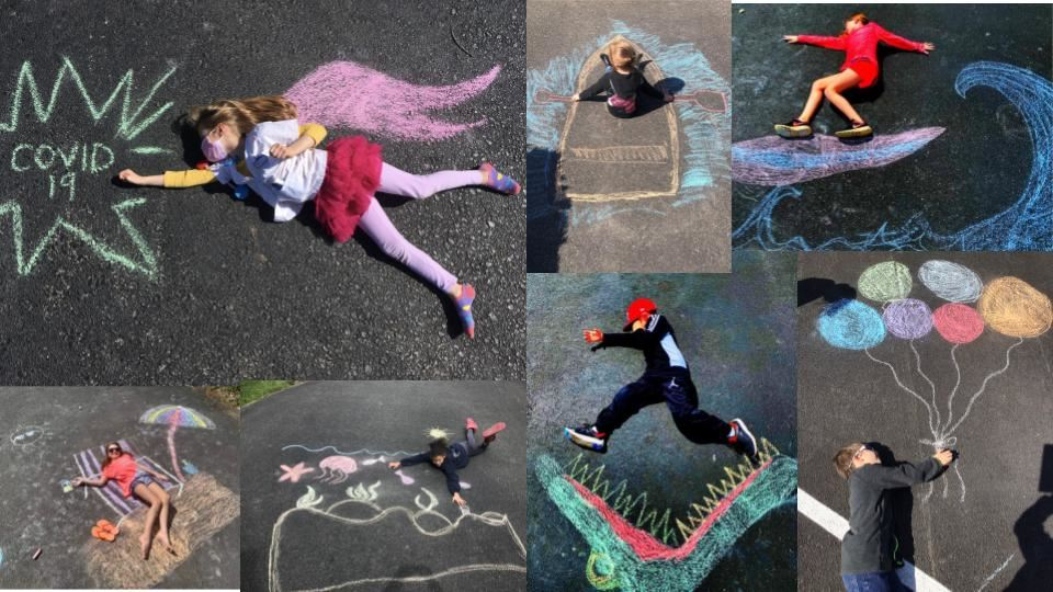 chalk draw kids