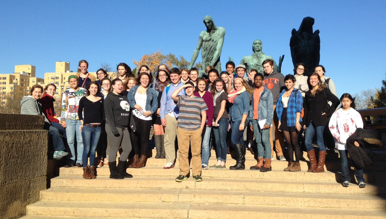 French students do the Philly Art museum!